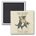 Imã salve o dia dos gatos do casamento - marfim