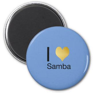 Imã Samba Playfully elegante do coração de I