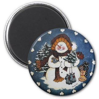 Imã Sammy o ímã do boneco de neve