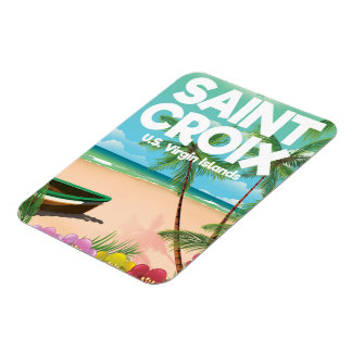 Ímã Santo Croix, poster de viagens dos E.U. Virgin