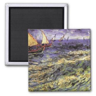 Imã Seascape em Saintes-Maries por Vincent van Gogh