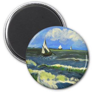 Imã Seascape em Saintes-Maries, Van Gogh