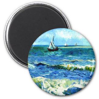 Imã Seascape em Saintes-Maries, Vincent van Gogh