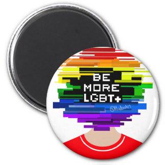 Imã Seja mais LGBTQ seja mais design frio