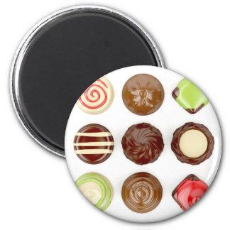 Imã Seleção de doces de chocolate