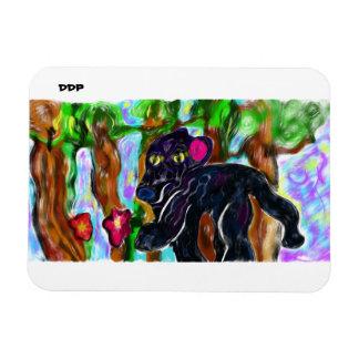 Ímã selva bonita da pantera preta