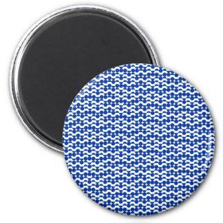Imã semi mosaico do azul do círculo