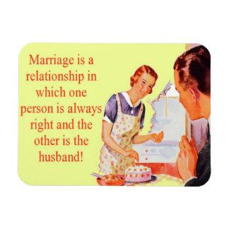 Ímã sempre direito do casamento da esposa