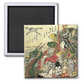 Imã Sete deuses de belas artes de Hokusai da boa