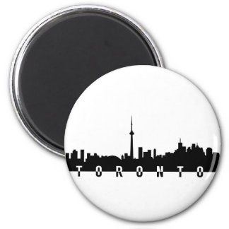 Imã silhoue do preto do símbolo da cidade de Canadá da