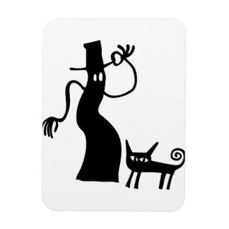 Ímã Silhueta assustador do gato preto do fantasma do