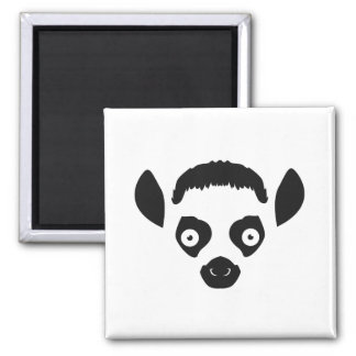 Imã Silhueta da cara do Lemur