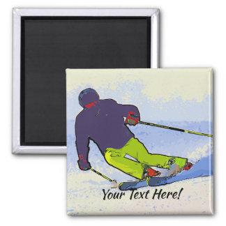 Imã Silhueta do esquiador
