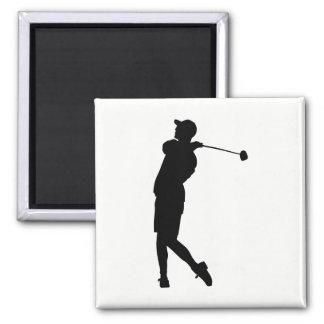 Imã Silhueta do jogador de golfe