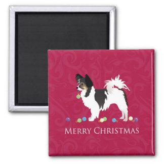 Imã Silhueta do Natal da raça do cão de brinquedo de