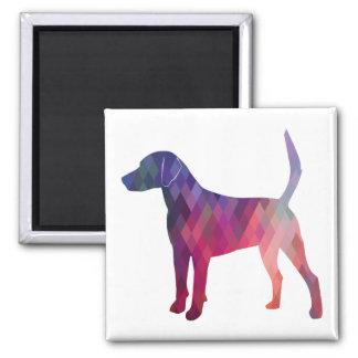 Imã Silhueta geométrica do teste padrão do cão de cão