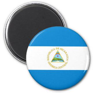 Imã símbolo da nação da bandeira de país de Nicarágua