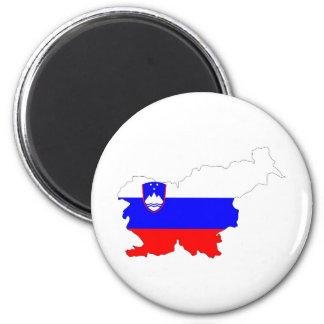 Imã símbolo da silhueta da forma do mapa da bandeira