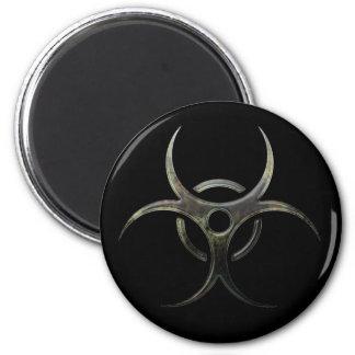 Imã Símbolo do Biohazard do Grunge
