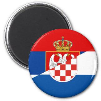 Imã símbolo do país da bandeira de serbia croatia meio