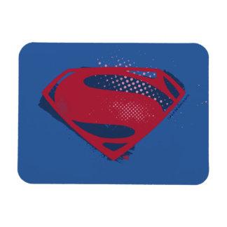Ímã Símbolo do superman da escova & da reticulação da