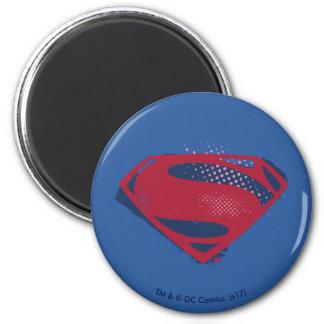 Imã Símbolo do superman da escova & da reticulação da