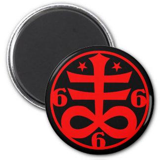 Imã Símbolo transversal satânico do gótico oculto