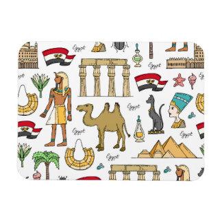 Ímã Símbolos da cor do teste padrão de Egipto