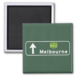 Imã Sinal de estrada de Melbourne, Austrália