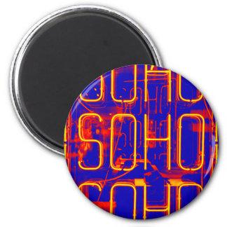 Imã Sinal de néon de Soho iluminado em Londres