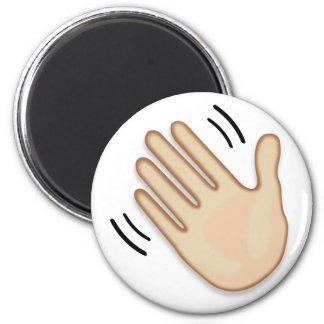 Imã Sinal de ondulação Emoji da mão