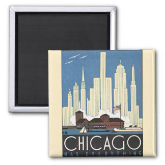 Imã Skyline do arranha-céus de Chicago Illinois das