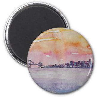 Imã Skyline San Francisco da área da baía com ponte de