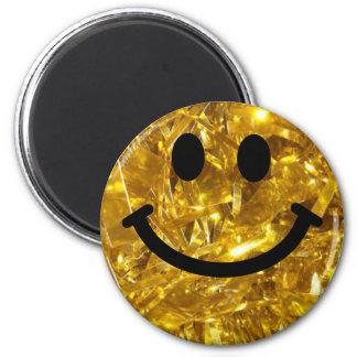 Imã smiley do ouro do Sparkly-olhar (gráfico do