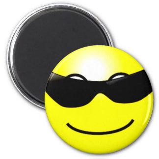 Imã Smiley face amarelo dos óculos de sol legal