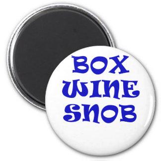Imã Snobe do vinho da caixa