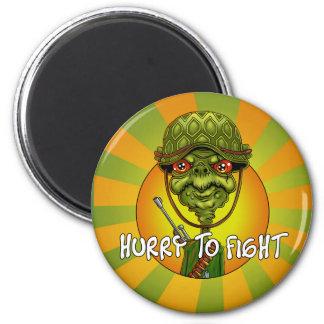 Imã soldado da tartaruga - caráter engraçado do