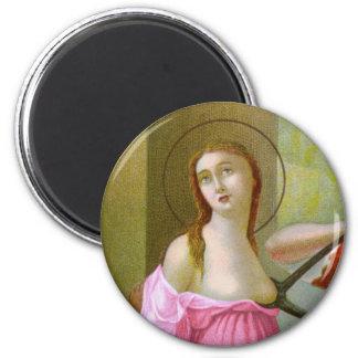 Imã St. cor-de-rosa Agatha (M 003)