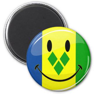Imã St. de sorriso Vincent e bandeira dos Grenadines