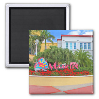 Imã St. Maarten, sinal de boas-vindas, fotografia,