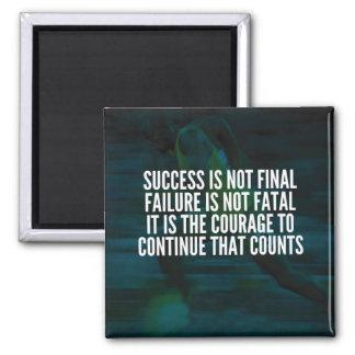 Imã Sucesso, falha, coragem - exercício inspirador