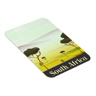 Ímã Sul - poster de viagens africano da noite da