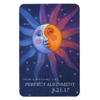Ímã Sun e a lua eclipsam o alinhamento perfeito 4 x 6