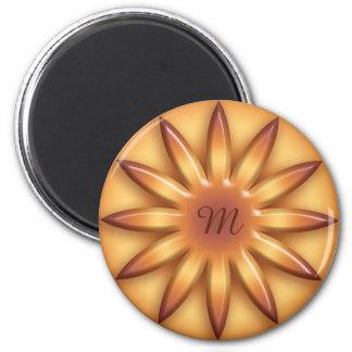 Imã Sun. Elemento geométrico do inclinação. Monograma