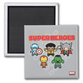 Imã Super-herói da maravilha de Kawaii