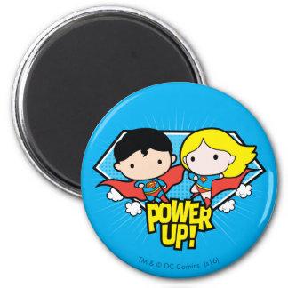 Imã Superman de Chibi & poder de Chibi Supergirl