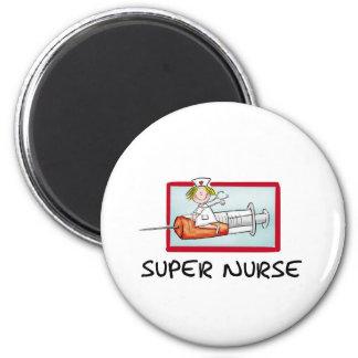 Imã supernurse - enfermeira cómico dos desenhos
