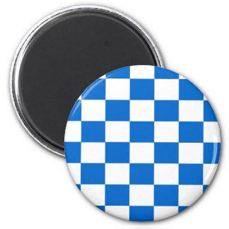 Imã Tabuleiros de damas azuis e brancos