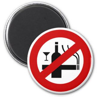 Imã ⚠ tailandês do sinal do ⚠ não fumadores do álcool