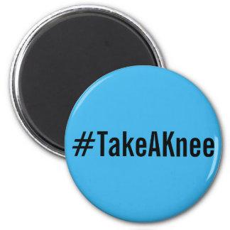 Imã #TakeAKnee, letras pretas corajosas no ímã dos